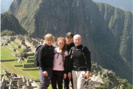 Family Photo in front of Machu Picchu